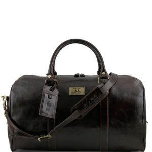 980d3bb72 Tuscany Leather kožená cestovná taška Voyager – veľká, tmavohnedá